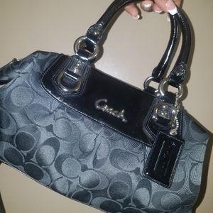 New black Coach bag